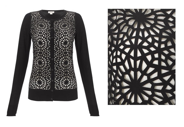 Monsoon Ebony Cutwork Cardigan